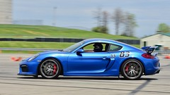 Hard turn-in... (R.A. Killmer) Tags: autocross scca gt4 porsche fast horsepower blue quick slide tires grip wing german worldcars