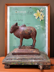 Wood & Paper (graeme37) Tags: letter indianwoodcarving toyhorse pullalongtoy written message handwriting wood carving