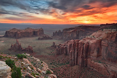 Remote Monument Valley Sunrise (David Shield Photography) Tags: huntsmesa monumentvalley arizona remote sunrise landscape southwest sky clouds navajonation color light nikon