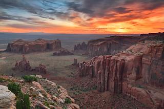 Remote Monument Valley Sunrise