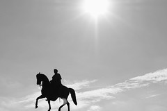 Silhouette (Goodfella_815) Tags: horse dresden germany silhouette statue europe canon 1855mm 1200d clouds sky