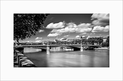 Pont Lafayette (Guillaume et Anne) Tags: pont france lyon rhône canon 6d 35mmf2is 35mmf2 35 35mm ef35 f2 noiretblanc bw filtre nd110 nd1000 poselongue longexposure lafayette