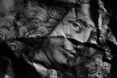 show me the money (millr the shootist) Tags: mono macro banknote currency portrait sidelight texture