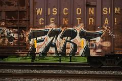 FART (TheGraffitiHunters) Tags: graffiti graff spray paint street art colorful freight train tracks benching benched boxcar fart ribbet