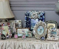 small picture frame collection (YourCastlesDecor) Tags: frames buttons jewelry rhinestones pearls seashells abalone coral