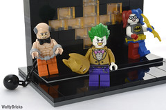 The Butler (WattyBricks) Tags: lego dc comics superheroes alfred pennyworth butler batman bruce wayne manor joker harley quinn harleen quinzel clown prince princess crime gotham rogues gallery