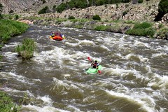 River Recreation (Patricia Henschen) Tags: parkswildlife parks park recreation site colorado canoncity arkansasriver arkansasheadwatersrecreationarea usroute50 fivepoints recreationsite river snowmelt rapids water sports kayak rafting bighornsheepcanyon