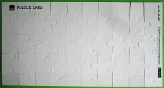 Puzzlekarte - Rückseite