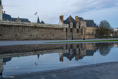 Water mirror (Istvan SZEKANY) Tags: annedebretagne architecture britain castle city continentsetpays discovery downtown ecology europa europe flags fr fra france garden grass ground history loire loireatlantique nantes nikon nikond3100 old promenade paysdelaloire reflection reflets ride szekany town travel trees trip vegetation water watermirror