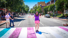 2017.06.10 Painting of #DCRainbowCrosswalks Washington, DC USA 6370