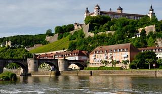 Alte Mainbrücke, Festung Marienberg u. Wallfahrtskirche Käppele