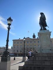 Gustavus Adolphus statue and Göteborgs rådhus, Gothenburg, Sweden (Paul McClure DC) Tags: gothenburg sweden sverige july2015 göteborg historic architecture sculpture