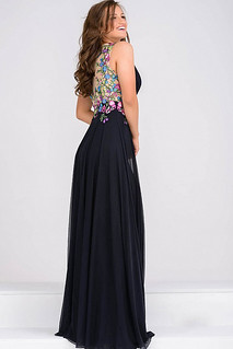 Shop V neck Sleeveless Prom Dress By Jovani