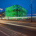 Ars Electronica Center at dawn