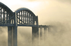 Bridging the Tamar (jamiegaquinn) Tags: brunel tamar rab royalalbertbridge bridge mist morning misty devon cornwall saltash saltashstation