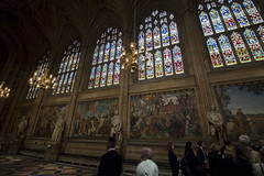 NH0A7090s (michael.soukup) Tags: westminster palace london uk unitedkingdom england houseofcommons thames gothic architecture stainedglass hall royalgallery fresco statue