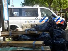 Police Van & Rubbish (Quetzalcoatl002) Tags: van policevan rubbish amsterdam garbage nieuwmarkt car streetshots police