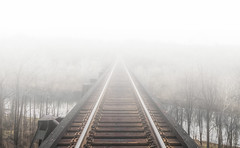 Up In The Fog (Michael Chronister) Tags: virginia railroad explore exploration fog train tracks