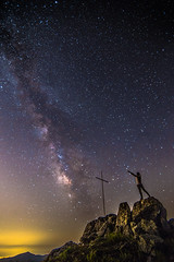 Chasing the Milky Way (Vagelis Pikoulas) Tags: milky way milkyway stars star space universe galaxy night nightscape view selfshot selfie rocks canon 6d tokina 1628mm vilia kitaironas mountains greece europe 2017 summer june longexposure