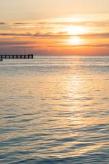Nearly there (.Stephen..Brennan.) Tags: clouds fa77 jetty moonta pentaxk3 seascape southaustralia sun sunset moontabay australia