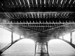 Pierscape (real ramona) Tags: clevedon x10 fujifilm pier monochrome seascape seaside bristol severn spray