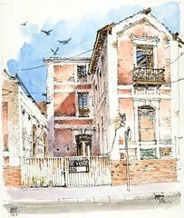 Churriana, villa Fermina (Luis_Ruiz) Tags: málaga architecture urbandecay ruin churriana urbansketchers villa fermina dibujo drawing sketch sketchbook ink watercolor