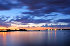 New Bedford Waterfront (MRD Images) Tags: le longexposure slowshutter sun sunset sky newengland beauty nature landscape waterfront newbedford massachusetts ocean water clouds