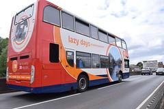 Lazy day in Stratford-upon-Avon (25th June 2017) (paulburr73) Tags: 15673 stagecoach midlands warks warwickshire stratforduponavon scania n230ud adl alexanderdennis e400 enviro400 kx10ktc stagecoachmidlands sunday afternoon june 2017 routebranding branding servicex18 service18 coventry evesham