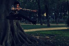 নিনজা (GonzaloJim) Tags: parque jerez patada ninja naturaleza árbol raíz