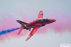 Red Arrows (M J Robinson Photography) Tags: 2016 airshow cosford air show raf royalairforce display british royal force aerobatic team bae hawk t1 red arrows redarrows jet trainer aviation photography nikon d7100 nikond7100