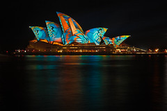 Vivid Opera House (mclcbooks) Tags: sydneyoperahouse sydney harbor water bay ocean longexposure le lights art vividsydney 2017 ashbolland audiocreatures australia nsw
