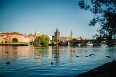 Prag (Margot in Love) Tags: sunset sundown abends evening moldau bridge karlsbrücke brücke wasser river fluss prag tschechien