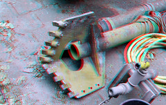 Drilling head for geothermie of aardwarmtewinning 3D (wim hoppenbrouwers) Tags: drilling head 3d anaglyph stereo redcyan blaak16 geothermie aardwarmtewinning