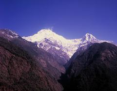 On Nepal trek (suxarik) Tags: mamiya 645 6x45 120 645afd af sekor mamiyasekor mf medium mediumformat film expired e6 color fujifilm fuji velvia fujifilmvelvia100 rvp100 analog slide positive scanned imacon imaconflextightphoto reversal nepal trek trekking mountain mountains rock