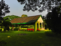 Solitude !! (Lopamudra !) Tags: lopamudra lopamudrabarman lopa shibpur botanical garden botanicalgarden ajc ajcbose howrah kolkata city nature verdant colour color colours colourful picturesque building structure meadow lawn shed trees tree rest solitude lonesome silence tranquil beauty beautiful westbengal india calcutta peace life sunshine light lightandshade sunlight landscape