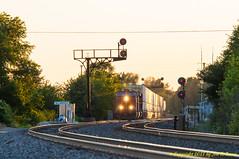 Williamsfield twilight (Jon R. Roma) Tags: railroad train engine bnsf atchisontopekasantafe