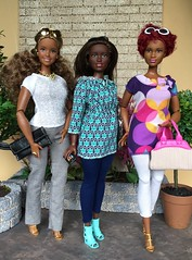 Heading home for the long weekend (Foxy Belle) Tags: curvy barbie fashionistas doll mattel black african american friends group look handmade sew clothing clothes