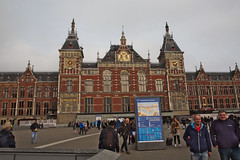 centraal station (n.a.) Tags: amsterdam nl netherlands holland cs centraal station train architecture iconic famous building clock tower trams