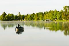 Morning Fishing (gallant_jonathan) Tags: canada québec light sun early dusk sunrise haze mist fog reflection appalache chaudièreappalache disraeli aylmer lac forest tree boat fish fishing morning lake