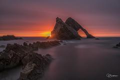 Bowfiddle Sunrise (bradders29) Tags: bowfiddlerock portknockie moraycoast seastack longexposure grahambradshaw sunrise dawn scotland highland