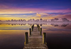 UPSIDE-DOWN-WORLD (Vaughan Laws Photography | www.lawsphotography.com) Tags: sunrise jetty canon foggy color reflection