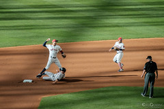 Turning a Double (Evan Gearing (Evan's Expo)) Tags: baseball houston houstonastros majorleaguebaseball minutemaidpark mlb newyorkyankees stadium texas tx unitedstates us