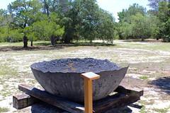 Confederate Salt Kettle (Piedmont Fossil) Tags: florida cedarkey museum state park salt pan kettle