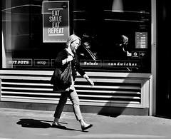 Don't Forget The Smile ! (jaykay72.) Tags: london uk street candid streetphotography londonist cornhill stphotographia blackandwhite bw