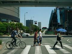 pedestrian_1350338 (strange_hair) Tags: pedestrian street tokyo walk people japan bycicle summer couple