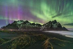 'Magical Nights' - Vestrahorn, Iceland (Kristofer Williams) Tags: night sky stars nightscape landscape mountains iceland stokksnes vestrahorn aurora beach coast sanddunes nothernlights auroraborealis