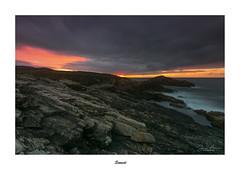 Sunset... (Canconio59) Tags: largasexposiciones otraspalabrasclave longexpositions costa coast galicia españa spain sunset ocaso colores colors mar sea cielo sky rocas rocks