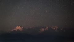 At Moonset - Trishul (7120m),Mrigthuni (6855m) and Maiktoli (6803m) visible from left to right (Abhinav Singhai) Tags: nikon nikond700 nikkor india incredibleindia indiatravel indiatourism indiatourist travel traveller