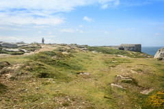 I stand alone (3) (stevefge) Tags: atlanticwall bretagne brittany france penhir wwii reflectyourworld cliffs sky landscape people candid