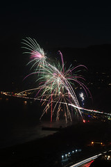40 (morgan@morgangenser.com) Tags: pacificpalisaddes beach belairbayclub blue celebrate fireworks color iso100 july3rd loud nikon night ocean orange pch people red reflection special spectacular streaks timeexposire tripod yellow amazing